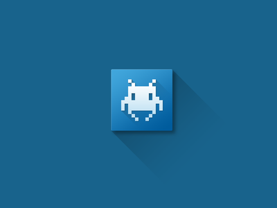 Space Invader space invader icon shadow