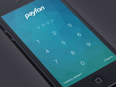 Passcode Screen lock lockscreen pass passcode polygon flat app ios