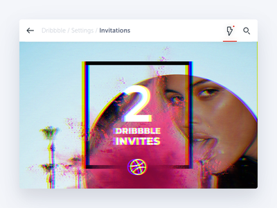 2 Dribbble Invites dribbble invite ui tv glitch
