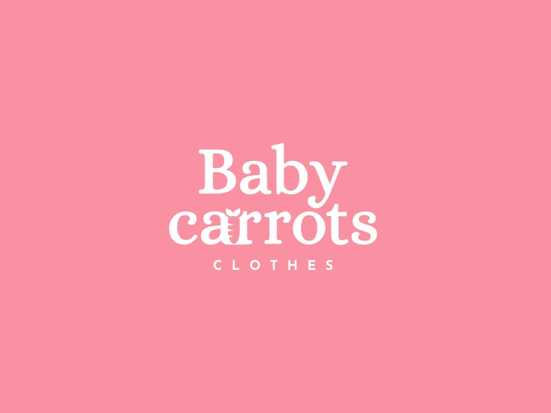 Baby Carrots Logo branding brand baby clothes baby carrots baby pink logotype logo design logo
