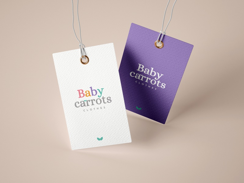 Baby Carrots Label carrots baby carrots baby branding brand baby clothes clothes label design label
