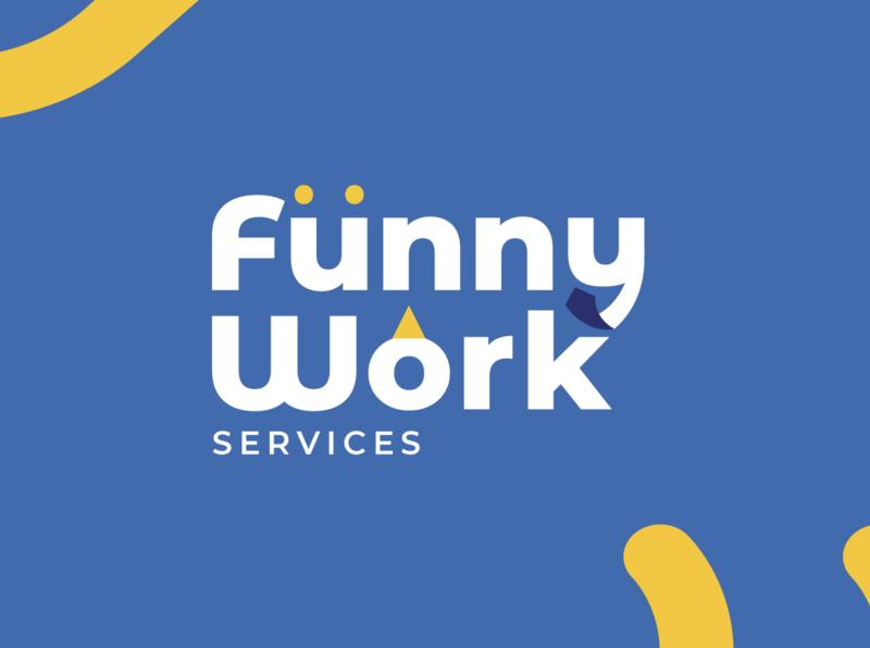 Funny Work Logo branding brand work logotype logo design logo funny