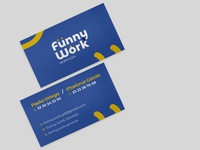 Funny work business card human resources business card design business cards business card