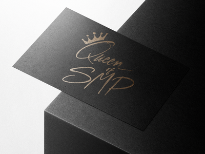 Queen of SMP vector 3d typography logo design branding