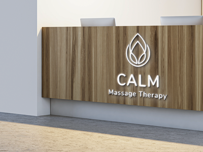CALM Massage Therapy typography illustration logo design branding
