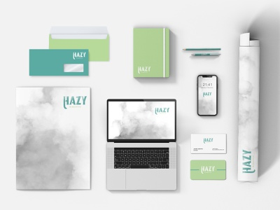 Hazy Marketing Branding design logo branding cannabis