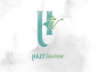 Hazy TV Branding typography design webdesign logo branding