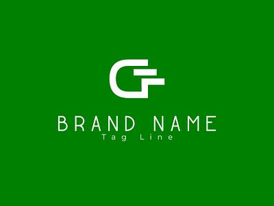GF Logo grid logo flat branding icon wordmark logo lettermark typography minimal logo gf logo gf letter