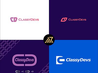 CD Lettermark logo iconic font logo letter typography wordmark logo logo minimal flat branding lettermark