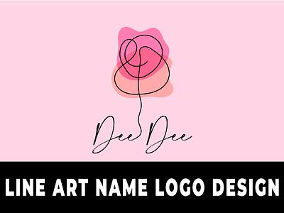 Line art Name Logo Design logos namelogo lineart line art name logo design illustration design wordmark logo typography lettermark branding flat minimal logo