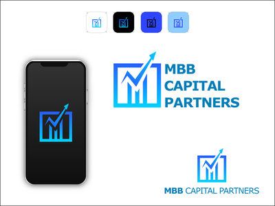 MBB capital Logo iconic font mbb-logo m-logo mbb capital illustration design wordmark logo typography lettermark branding flat minimal logo