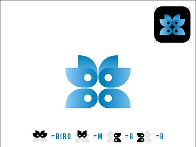 mbb bird logo bird logo mbb logo mbb bird logo illustration design wordmark logo typography lettermark branding flat minimal logo