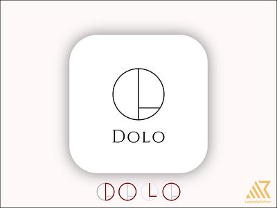 Dolo Line art logo logo design logos font letter vector line art dolo illustration design wordmark logo typography lettermark branding flat minimal logo