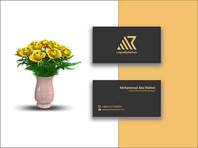Minimal Business card visiting card business card illustration design wordmark logo typography lettermark branding flat minimal logo