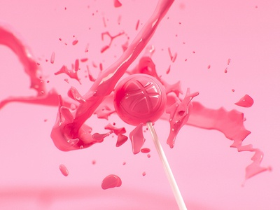 Sweet Thanks invite 3d render 3ds max debut first shot invitation sweet lollipop pink candy vray
