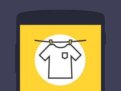 Main icon ui graph yellow android mobile app