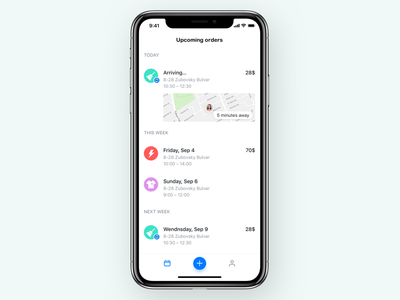 APP for cleaning company cleaning service ios iphone x icon app ui mobile iphone