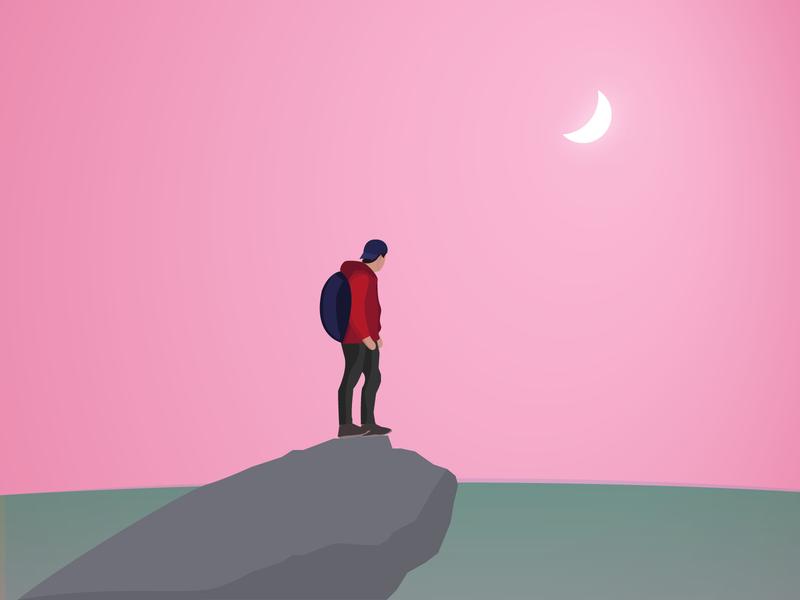 hiking illustration work in progress hiking flat illustrator character illustration