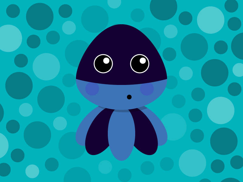 Octopusbubble wixiweb illustration character children creature fun playoffs blue octopus