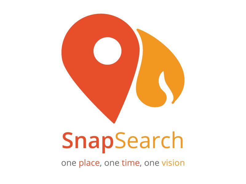 SnapSearch Logo - What Do You See ? logo social photo wixiweb map hackathon geo freddy mercury
