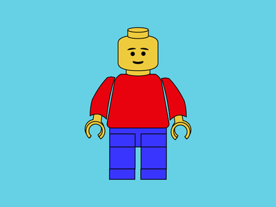 Classic Lego illustration character vector lego wixiweb toys illustrator fun