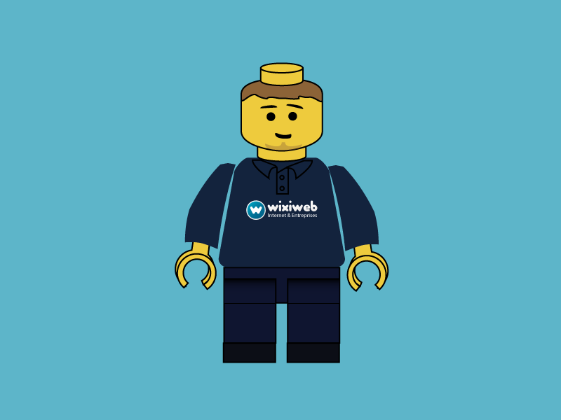 Lego Wixiweb Developer lego toys wixiweb illustration illustrator character vector maximet