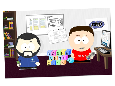 Southpark Illustration for Wixiweb Agency Wishes illustration wixiweb greeting happy new year southpark character