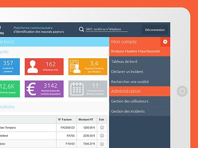 """Deadbeats"" Web Application Prototype ipad html5 css3 wixiweb ui axure prototype webapp webdesign"