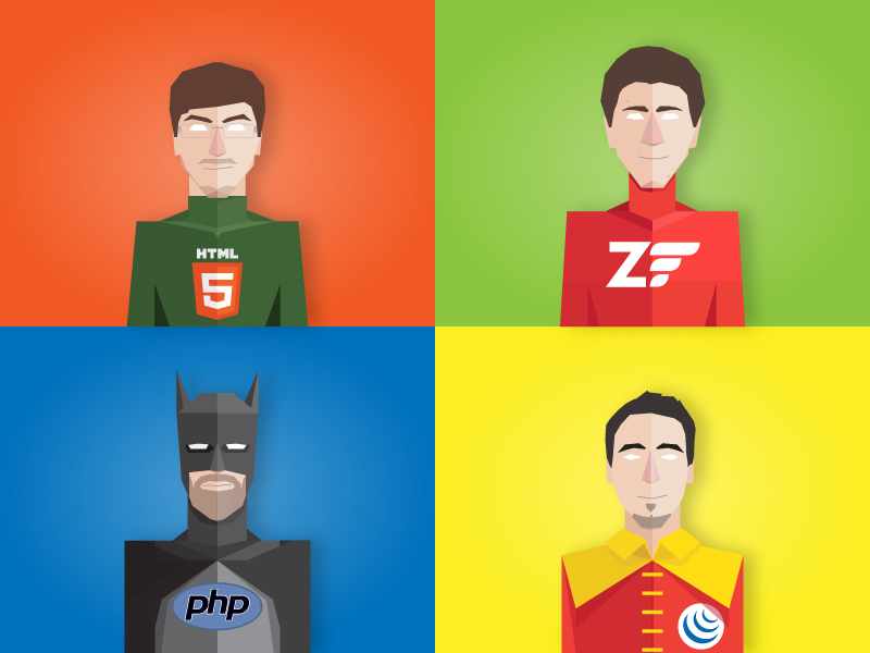 Wixiweb Superheroes Team  wixiweb robin html5 php batman illustration jquery comics superhero flat greenlantern character