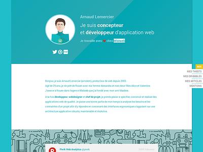 Personal portfolio france background wixiweb portfolio flat webdesign personal webdesigner api rouen