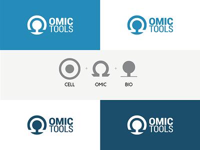 Omictools Logo Concept qpcr nmr massspec microarray ngs wixiweb dna bioinformatics omic logo