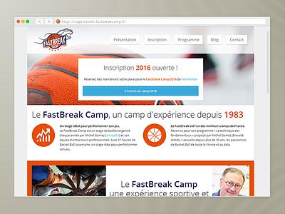 Fastbreak Camp - Basketball website france sport basket basketball wixiweb flat website landingpage webdesign fastbreakcamp