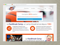 Fastbreak Camp - Basketball website