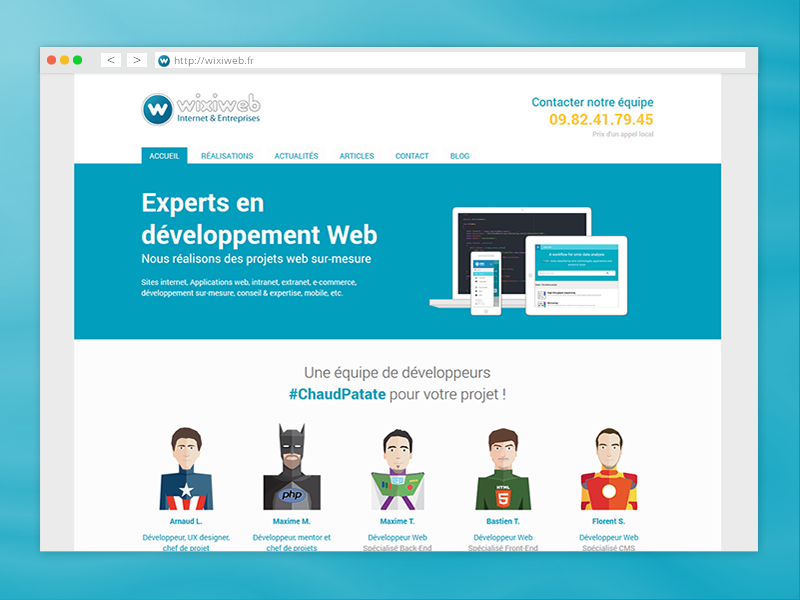 Wixiweb redesign illustration web rouen design ui ux website webdesign wixiweb flat superhero