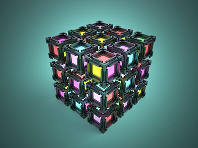 3D Voxel lighting render rouen light 3d magicavoxel lighting voxel