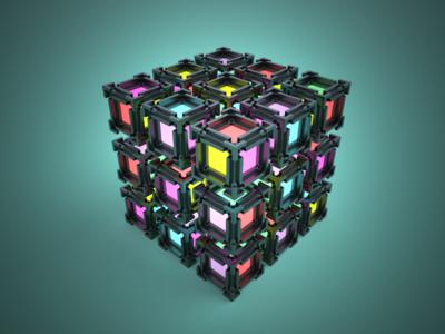 3D Voxel lighting render