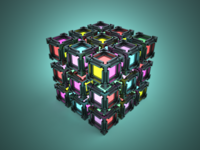 3D Voxel lighting render