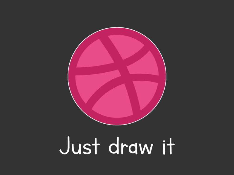 "Dribbble ""Just Draw It"" for Playoff! Dribbble Sticker Pack playoff stickers illustrator nike dribbble"