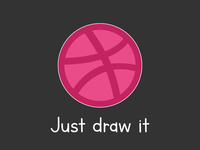 "Dribbble ""Just Draw It"" for Playoff! Dribbble Sticker Pack"