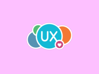 In love with UX pastel heart love sticker mule sticker uxdesign ux