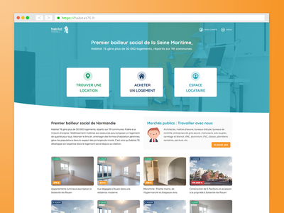 Habitat76 website homepage design (UX/UI)