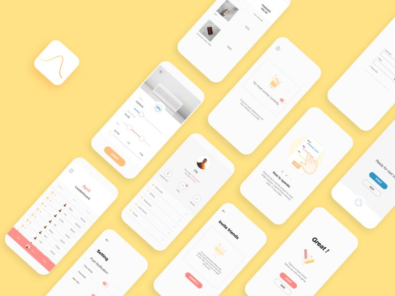 APP screens_ Valu logo ui app design application app design