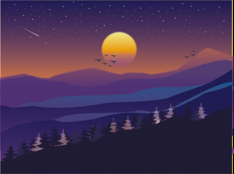 Some Mountains digitalart nature graphic design graphic art adobe landscape drawing mountains illustrator