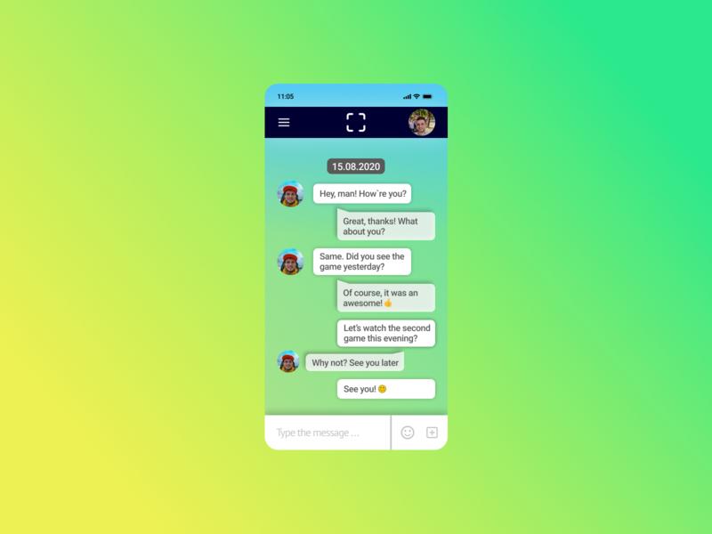 013 app chat social dailyui013 013 mobile ux ui design figma dailyui
