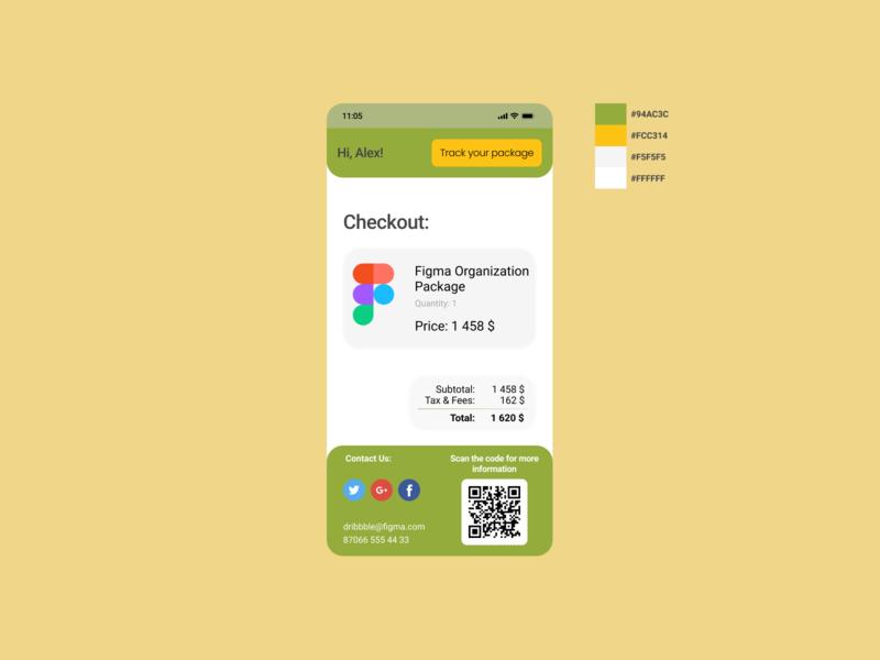 017 checkout form checkout dailyui016 017 mobile ux ui figma design dailyui