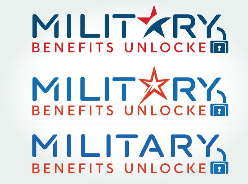 Military Benefits Unlocked Brand Logo ui vector logo illustration design branding design branding brand identity brand design brand