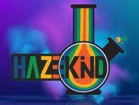 HAZEKIND BRAND BONG DRAWING ALTERNATIVE LOGO  FINAL vector logo illustration design cannabis logo marijuana logo brand identity brand design brand branding design branding