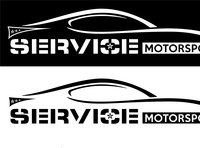 Service Motorsports Logo Brand Concept 4 vector logo illustration design nascar racing brand identity brand design brand branding design branding