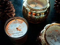 Fall Candle Pattern and Packaging