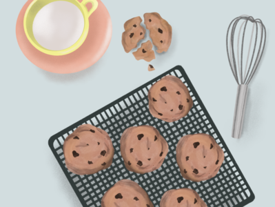 Baking Cookies cookie food illustration illustration